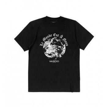 WASTED GLOW WORLD TEE NEGRO