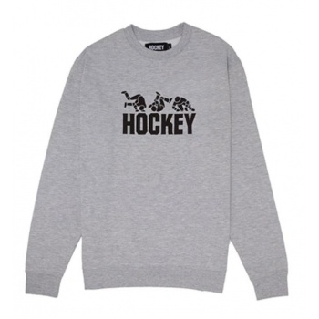 HOCKEY FALL GUY CREWNECK GRIS