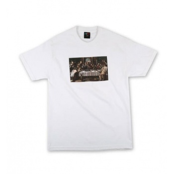 PIZZA LAST SUPPER TEE BLANCO