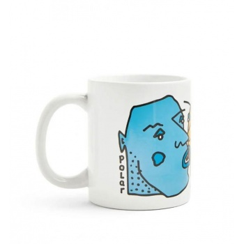 POLAR KISSING FACES MUG BLANCO