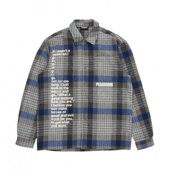 PLEASURES FORCES PLAID OVSHIRT
