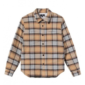 STUSSY QUILTED LINED PLAID SHI